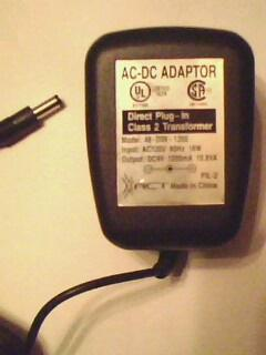 XACT 48-D09-1200 AC DC ADAPTER 9V 1200mA DIRECT PLUG IN