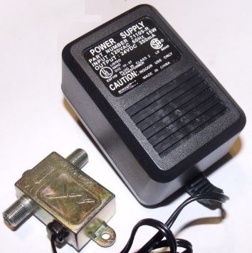 71109-R AC ADAPTER 24V DC 350mA POWER SUPPLY TV CONVERTER USED