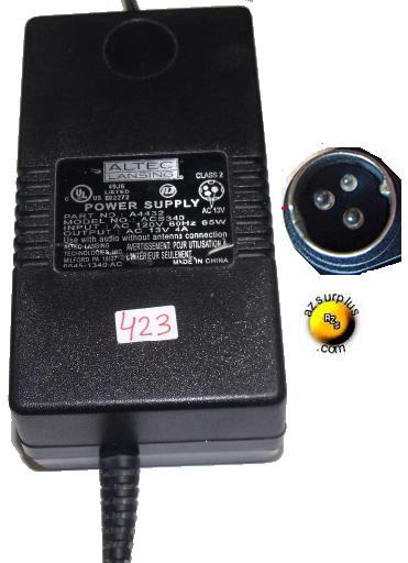 3-Pin 13V AC//AC Adapter For Altec Lansing ACS340 A4432 SubWoofer Speaker Charger