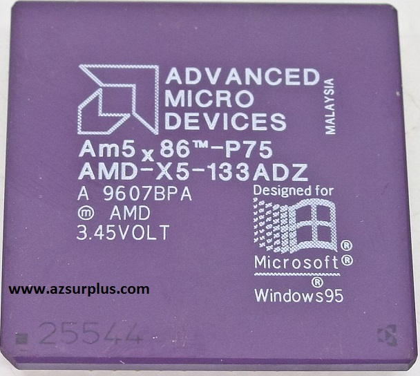AMD AMD x5 133ADW AM5x86 33 MHz P75 Processor Used For Windows 9
