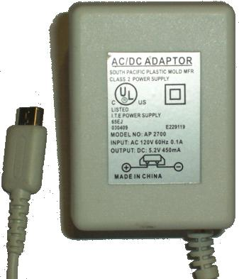 AP 2700 AC DC ADAPTER 5.2V 450mA POWER SUPPLY