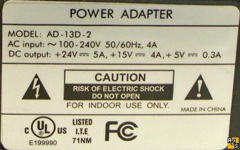 AD-13D-2 AC Power Supply Adapter 24VDC 15V 5V Triple Voltage