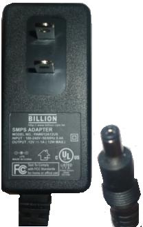 BILLION PAW012A12US AC ADAPTER 12VDC 1A POWER SUPPLY
