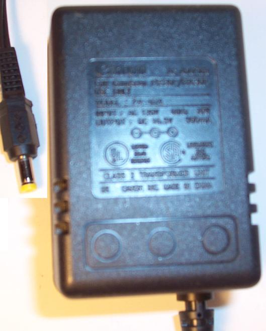 CANON PA-07A AC ADAPTER 10.5V 500mA 10W CANOSCAN FB330P FB630P C