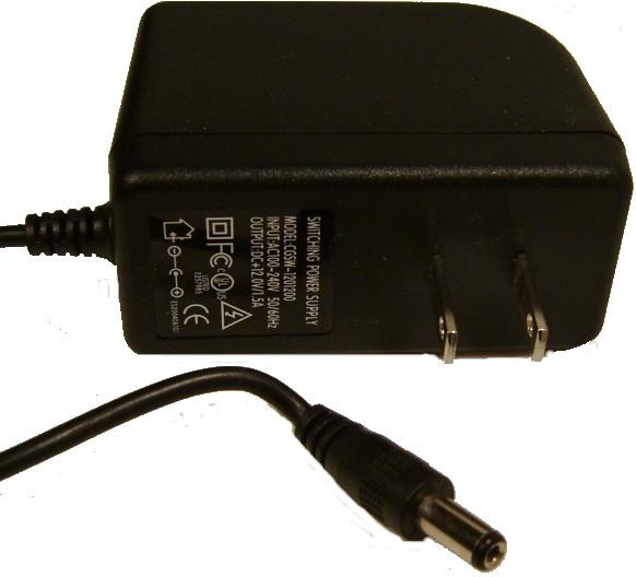CGSW-1201200 AC DC ADAPTER 12V 1.5A SWITCHING POWER SUPPLY for