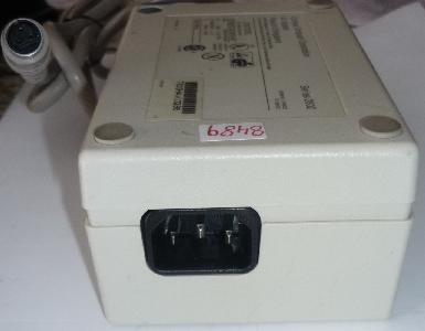 COMPAQ SERIES 2802 AC ADAPTER 30VDC 2A USED 35W 3PIN DIN FEMALE