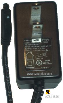 DSC-31FL US 52050 AC ADAPTER +5.2VDC 0.5A POWER SUPPLY