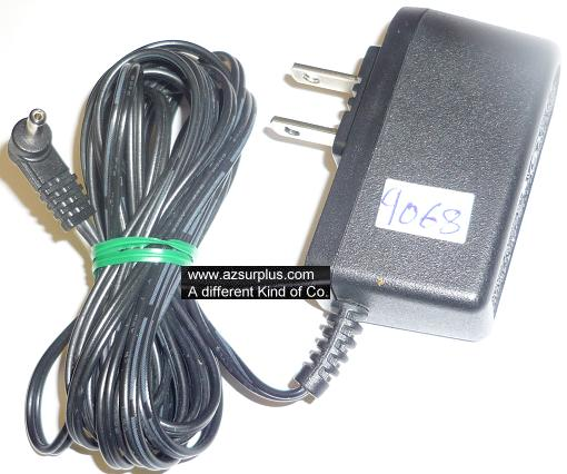 E205038 AC ADAPTER 6VDC 500mA USED -(+) 1x3.5mm 90° ROUND BARR