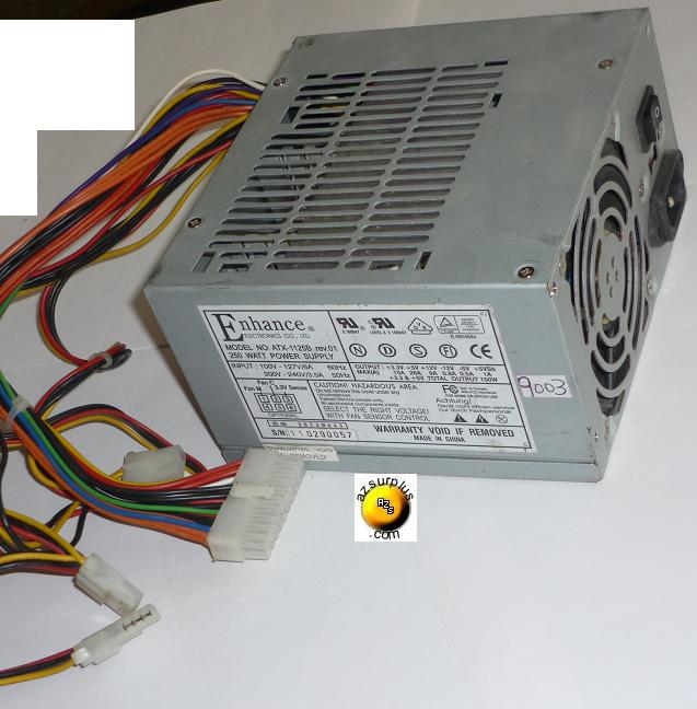 ENHANCE ATX-1125B SWITCHING POWER SUPPLY USED 250W +3.3V 1.5A +5
