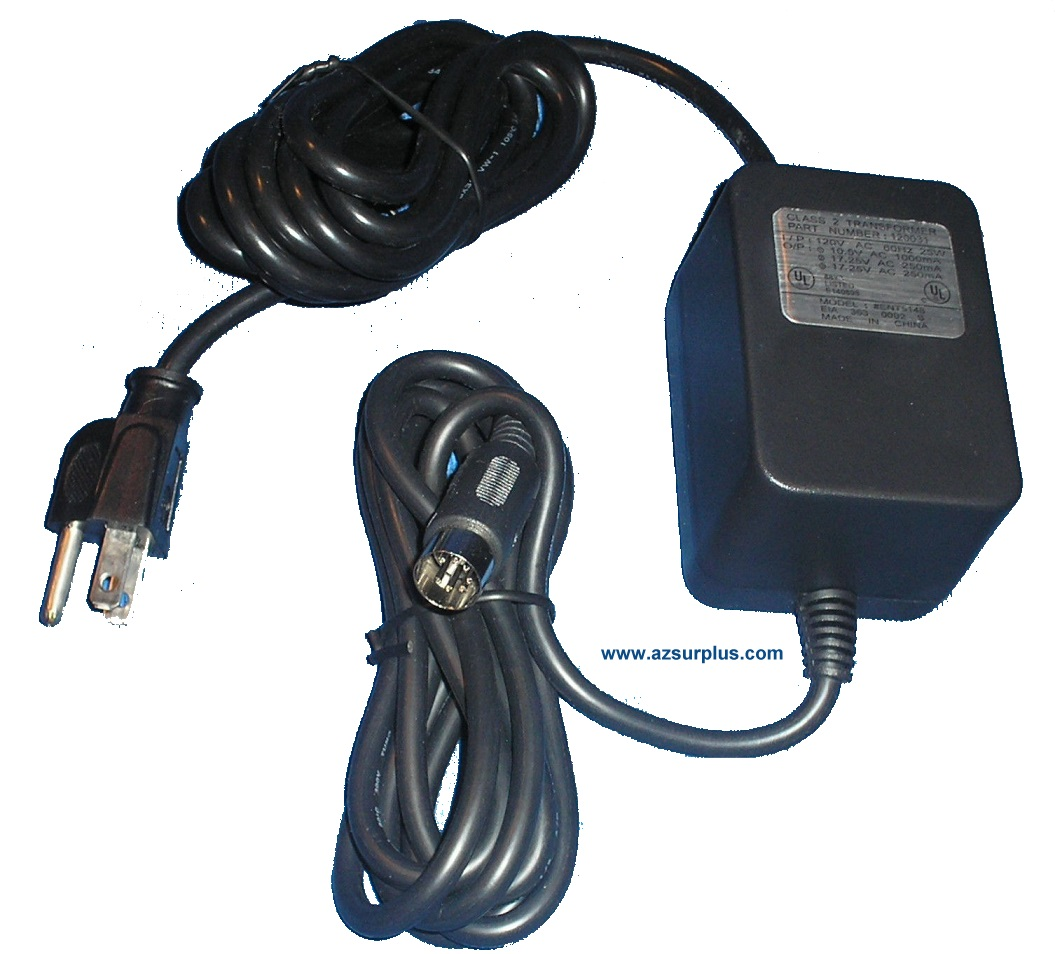 ENT5148 AC ADAPTER 10.5VAC 1000mA 17.25V 250mA USED 13mm 7PIN