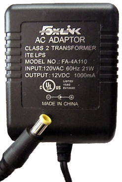 FOXLINK FA-4A110 AC ADAPTER 12VDC 1000mA USED 3x5mm -(+) ITE LPS
