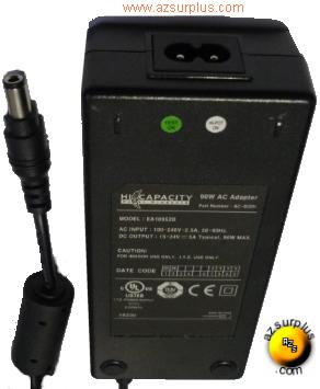 EA10952B 15-24VDC 5A -(+) 3x6.5mm New HI CAPACITY