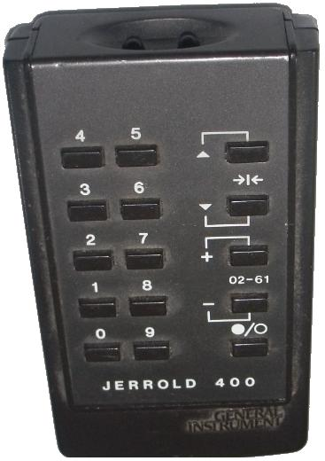 GENERAL INSTRUMENT JERROLD 400 infrared Remote Control 15 Button