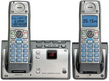 GE TC28223E Wireless HANDSET TWO CORDLESS Home Phone SYSTEM DECT