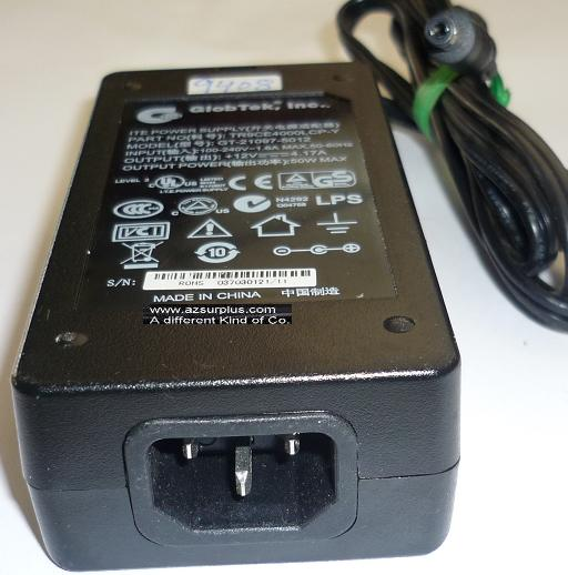 GLOBTEK GT-21097-5012 AC ADAPTER 12VDC 4.17A 50W USED -(+) 2.1x5