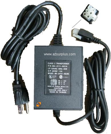 Generic JM-24151-NA (M) AC Adapter 24VAC 1.5A 6pin Used Linear P