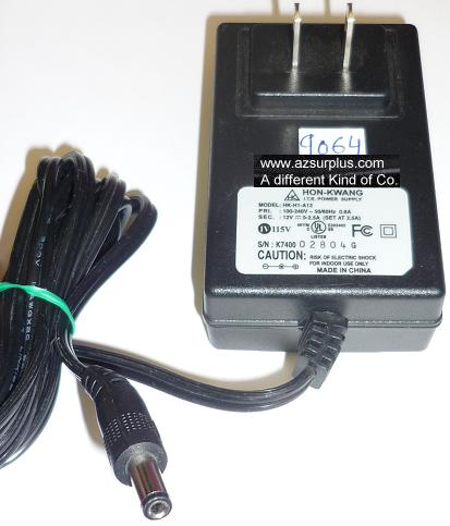 HON-KWANG HK-H1-A12 AC ADAPTER 12VDC 2.5A USED -(+) 2.5x5.5x11mm