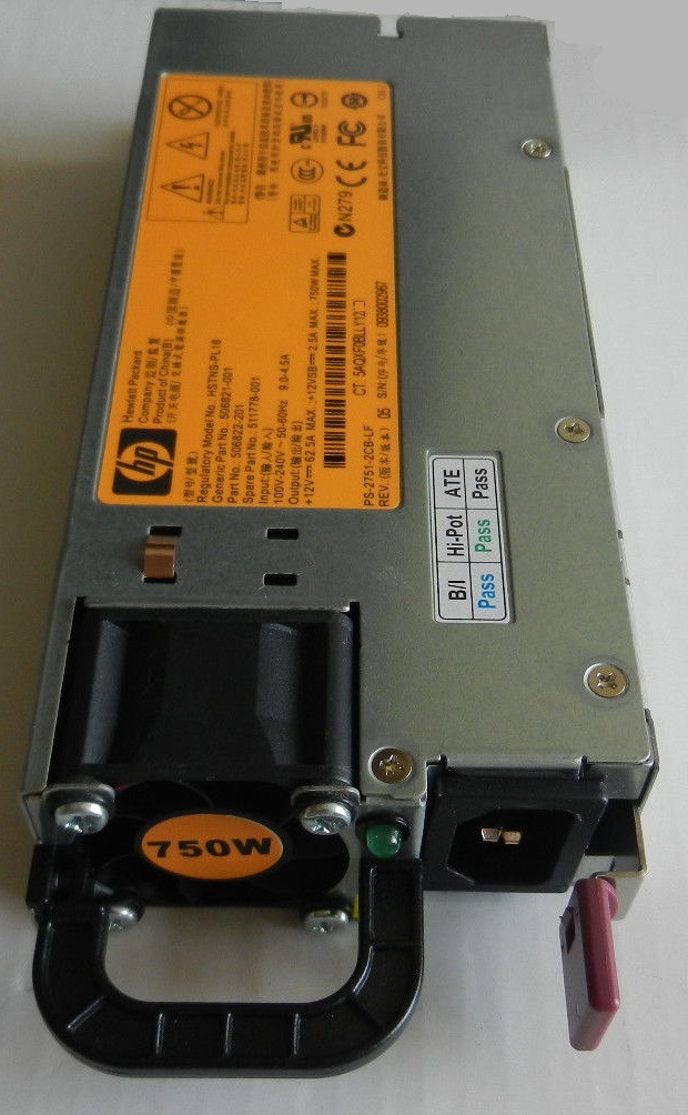 HP HSTNS-PL18 750W USED Power Supply 12vdc 62.5A PSU For DL380