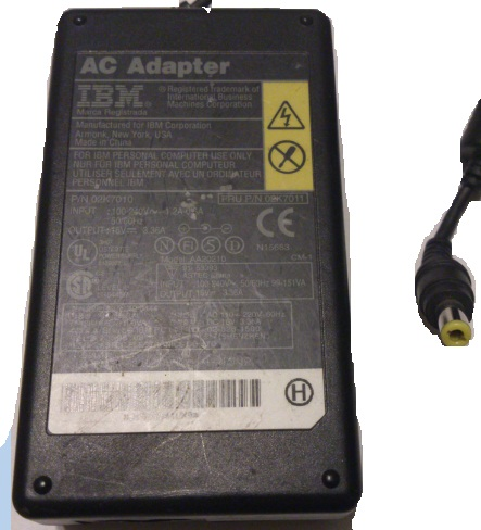 IBM AA20210 AC ADAPTER 16VDC 3.36A Used 2.5 x 5.5 x 11mm Round B