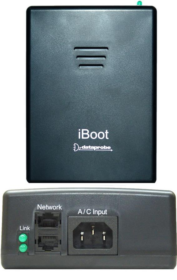 IBOOT DATAPROBE USED 2 NETWORK PORTS 1 A/C INPUT 1 OUTLET POWER