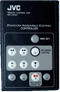 JVC RM-V403U infrared Remote Control 11 Buttons Used
