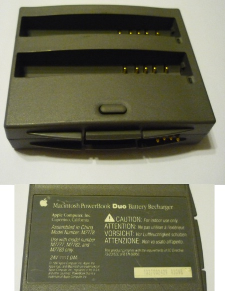 APPLE MACINTOSH M7778 POWERBOOK Duo 24v 1.04A BATTERY RECHARHER