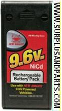 NEW BRIGHT 9.6V 600mAh NICD RECHARGEABLE BATTERY PACK