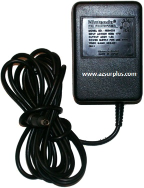 NINTENDO NBS-002 AC ADAPTER 9VAC 1.3A USED 2x5.3x9.7mm