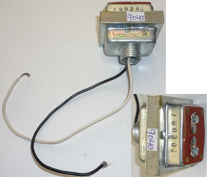 PACIFIC ELECTRONICS UM12 TRANSFORMER USED 24V 12VA CLASS 2 24UA