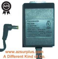 PANASONIC PQLV209 AC ADAPTER 6.5VDC 350mA Used 90° -(+) 1.5x4.8m