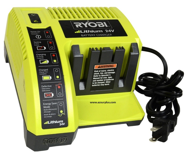 Ryobi OP140 24Vdc LiIon Battery Charger 1Hour Battery USED OP242