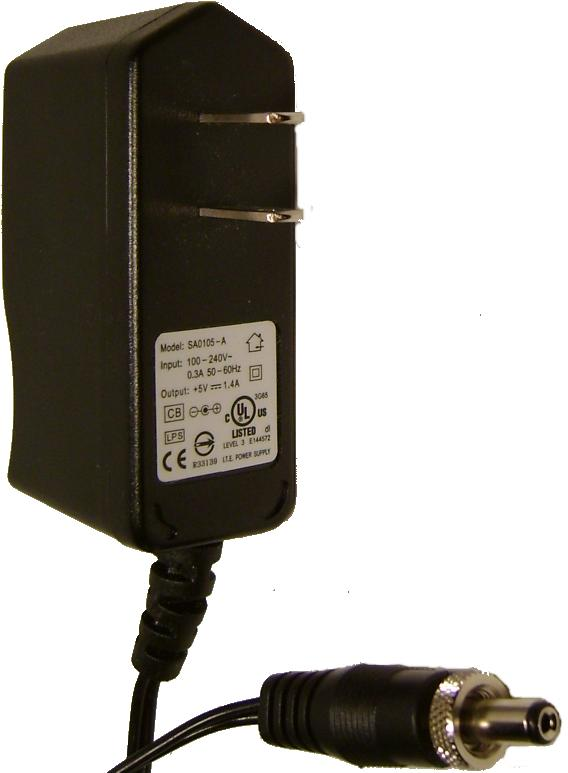 SA0105-A AC DC ADAPTER 5V 1.4A SWITCHING POWER SUPPLY