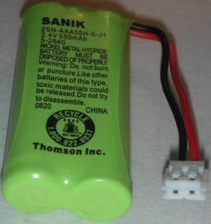 SANIK 2SN-AAA55H-S-J1 RECHARGEABLE BATTERY 2.4V 550mAH Ni-MH GE