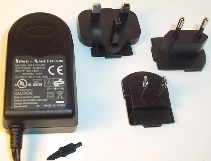 SINO-AMERICAN SA115C-05 AC ADAPTER 5V 4A SWITCHING POWER SUPPLY