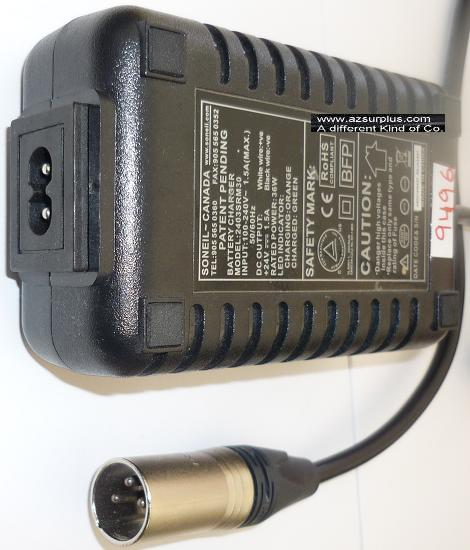 SONEIL 2403SRM30 AC ADAPTER +24VDC 1.5A USED 3PIN BATTERY CHARGE