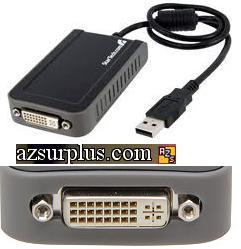 STARTECH USB2DVIE2 USB to DVI External Dual Monitor Video Adapte