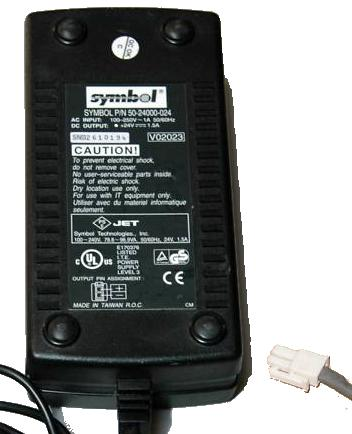 SYMBOL 50-24000-024 AC ADAPTER 24VDC 1.5A POWER SUPPLY