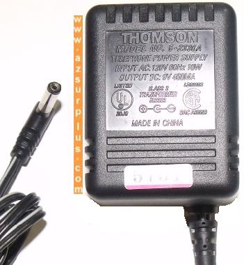 THOMSON 5-2330A AC ADAPTER 9V 450mA TELEPHONE POWER SUPPLY CLASS