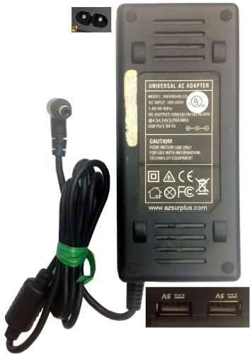 XMX9048LED UNIVERSAL AC ADAPTER 4.5A 24VDC USED -(+) 1.7x5.4mm