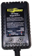 YARDWORKS 29310 AC ADAPTER 24VDC USED BATTERY CHARGER