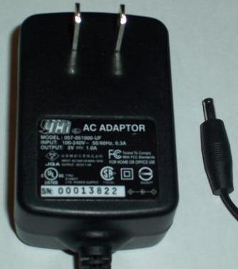 YHI 057-051000-UF AC DC ADAPTER 5V 1A POWER SUPPLY
