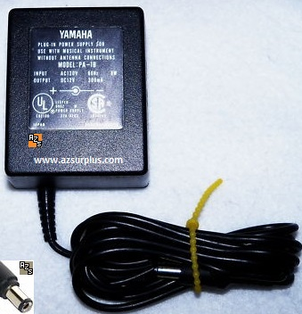 Yamaha PA-1B AC Adapter 12VDC 300mA Used -(+) 2x5.5mm Piano Plug