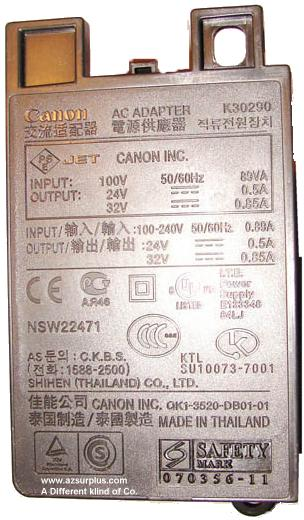 CANON K30290 AC INTERNAL POWER SUPPLY 32VDC 0.85A 24V 0.5A NSW2