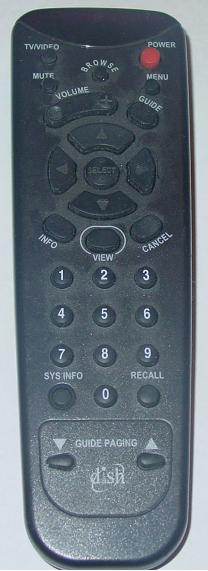 DISH NETWORK IR REMOTE CONTROL 123475322-AA