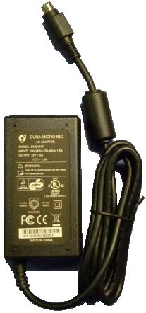 Dura Micro DM5127A AC ADAPTER 5Vdc 2A 12V 1.2A 4Pin Power Din 10