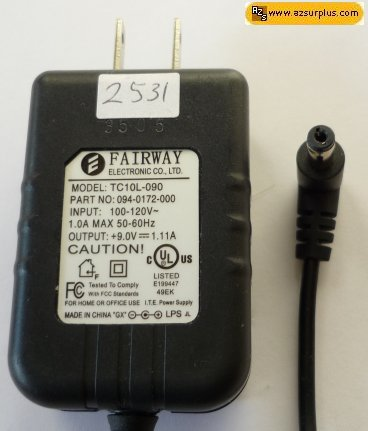 FAIRWAY WN10E-051 AC ADAPTER 5.1VDC 2A Switching POWER SUPPLY