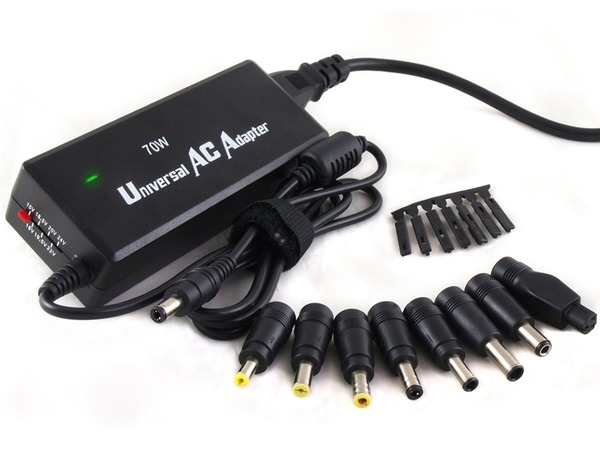 Finecom 70Watt Universal AC Adapter 15 - 24VDC 4.7A - 3A power s