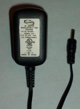 INCHARGE MTP051UL-0505 AC ADAPTER 5VDC 0.5A USED POWER SUPPLY