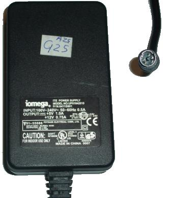 Iomega UP01842010 AC DC ADAPTER 5V 12V NEW BACKUP DRIVE POWER
