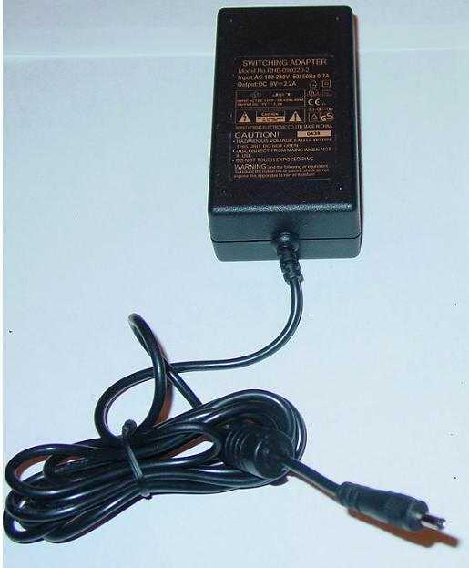 JET RHE-090220-2 AC ADAPTER 9VDC 2.2A Power Supply